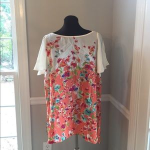 (536). Anthropologie Maeve Top.  Size L